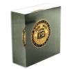 Die Struck Challenge Coins Embedded in Acrylic 2-1/2' x 4