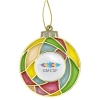 Stained Glass Bulb Holiday Ornament