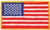 Embroidered American Flag Applique