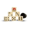 Giant Custom Branded Lawn Dice 6 Piece Game