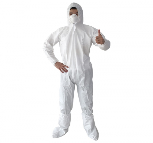 Non-Woven Disposable Bunny Suit - 70gsm