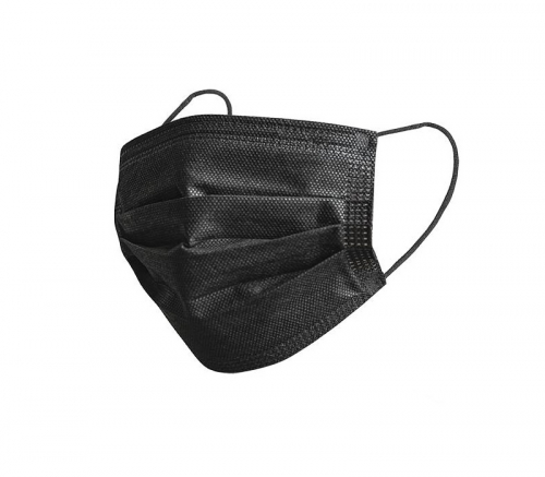 Black 3-ply Disposable Face Mask