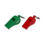 Plastic Whistle Keyring