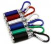 Mini Aluminum LED Flashlight with Carabiner