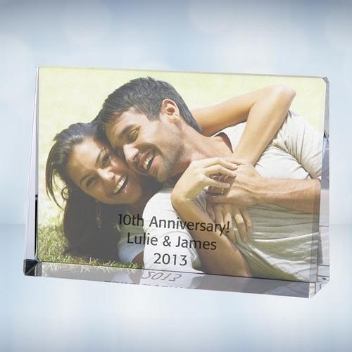 Color Photo Imprinted Horizontal Rectangle Plaque - Medium