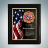 Rosewood Piano Finish Plaque w/ Sublimational Aluminum Gold Border Plate - Medium