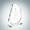 Boulder Award with Base | Clear Glass