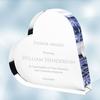 Acrylic Heart Keepsake Plaque - Small
