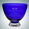 Cobalt Blue Footed Glass Bowl (S) | Molten Crystal
