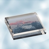 Color Photo Imprinted Acrylic Square Paperweight