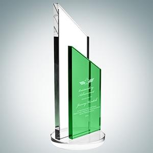 Green Success Award - Large   Optical Crystal