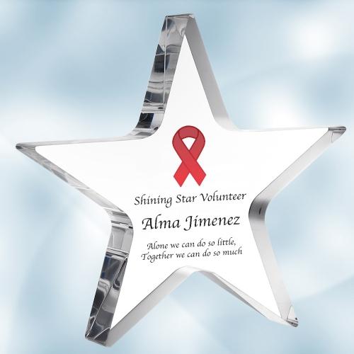 Color Imprinted Acrylic Star Award (S)