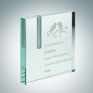 Square Vase Bud | Jade Glass