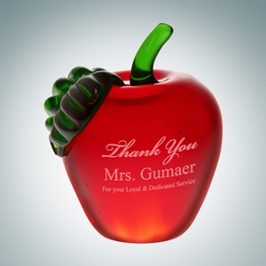 Red Apple   Molten Glass