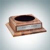 Optional Walnut Wood Base with Personalized Silver Plate | Wood