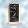 Black Marbleized Acrylic Award - Small