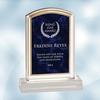 Royal Blue Marbleized Acrylic Award - Small