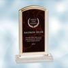 Red Marbleized Acrylic Award - Small