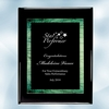 Green Galaxy Acrylic Black Wood Plaque - Large