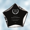 Black/Clear Luminary Star Acrylic Award - Medium