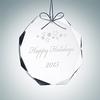 Gem-Cut Octagon Ornament | Clear Glass