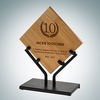 Genuine Bamboo Plaque with Iron Stand | Wood, Metal - Small