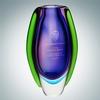 Art Glass Deep Blue Sea Bud Vase