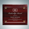 Rosewood Piano Finish Plaque - Floating Acrylic Plate - Large