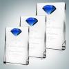 Vertical Rectangle Plaque with Blue Diamond Accent (L)