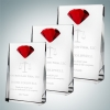 Vertical Rectangle Plaque with Red Diamond Accent (L)