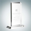 Vertical Rectangle Plaque with Base | Optical Crystal