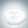 Octagon Glass Coaster   Jade Glass