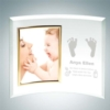 Curved Vertical Gold Photo Frame | Jade Glass