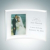 Curved Vertical Silver Photo Frame | Jade Glass