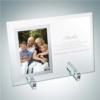 Vertical Mirror Photo Frame with Stand | Jade Glass
