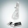 Executive Bookend Award   Optical Crystal,Pate de Verre