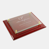 Rosewood Piano Finish Plaque - Floating Glass Plate | Clear Glass,Wood