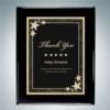 Black Piano Finish Plaque - Black Starburst Plate | Wood, Metal