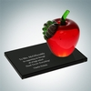 Red Apple with Smoke Glass Base | Molten Glass, Smoke Glass