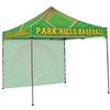 10' Square Canopy Tent with One Full Wall
