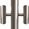 Silver Flagpole Tunnel Lights - for 8