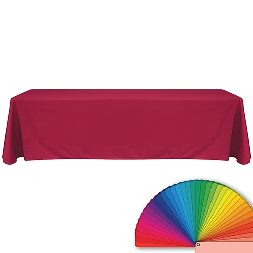 8' Blank Solid Color Polyester Table Throw