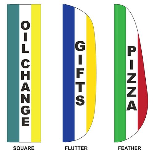 3' x 15' Custom Message Feather Flag