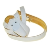 Single Harness Leather Carrying Belts, White