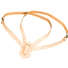 Double Strap Leather Carrying Belt, Tan