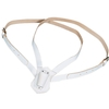 Double Strap Leather Carrying Belt, White