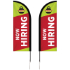 6' Double Sided Portable Half Drop Banner with Hardware Set