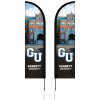 8' Double Sided Portable Half Drop Banner with Hardware Set