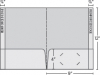 Class 1 Stock Standard 2 Pocket Folder w/2 Reinforced Edge