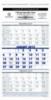 3-Month View Wall Calendar (8